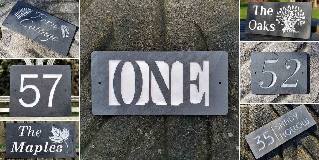 Slate Plaques Designer, Timothy Carter is a font of all knowledge - Examples of Slate Signs