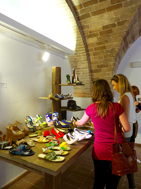 Marche shoe makers on display