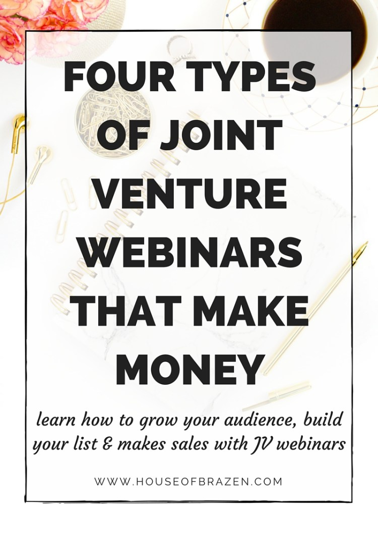 4 Joint Venture Webinar Ideas That Sell