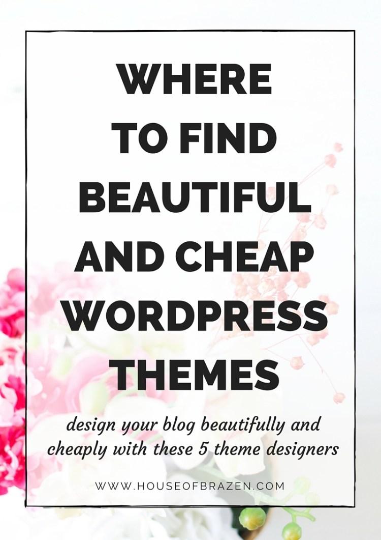 Where To Find Beautiful & Cheap Wordpress Themes