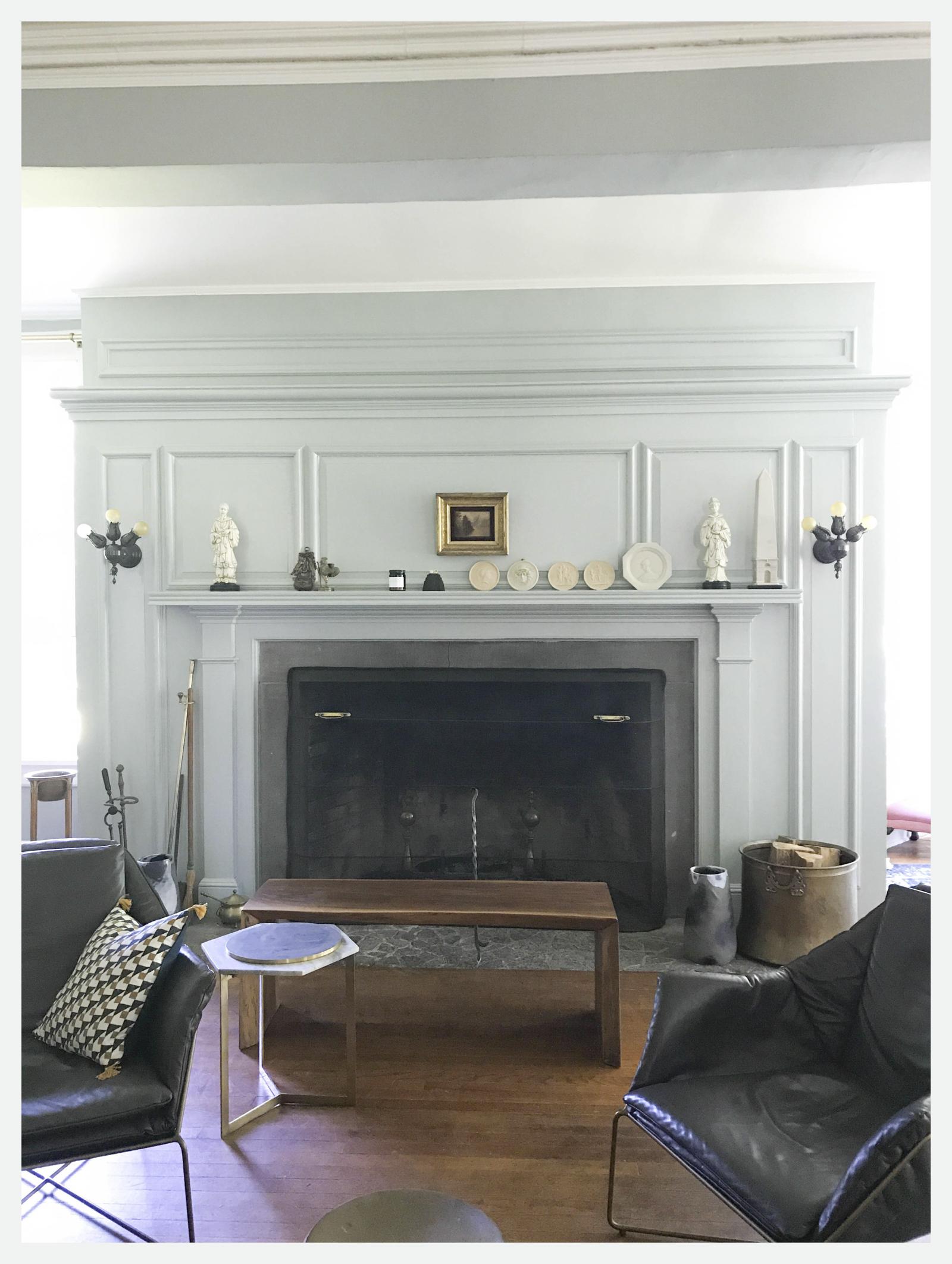 Before-The Fireplace Mantle