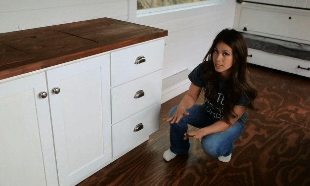 How to Make Kitchen Cabinets with Tiny House Kitchen Tour