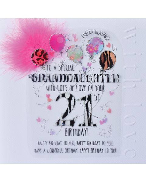 The Best 22 Happy 21st Birthday Granddaughter Cards