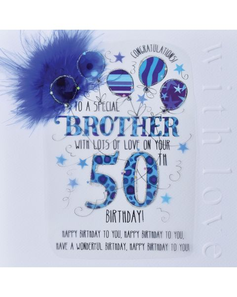 Wendy Jones Blackett Brother 50th Birthday Card