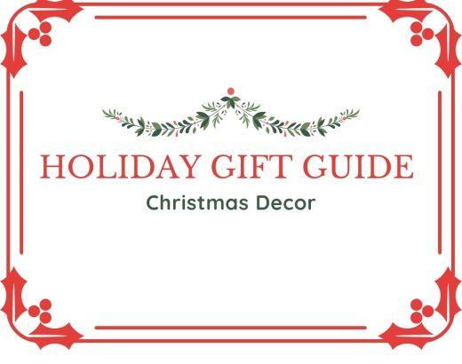 2020 Christmas Decor Holiday Gift Guide
