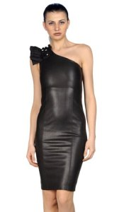 Textured Leather Dress