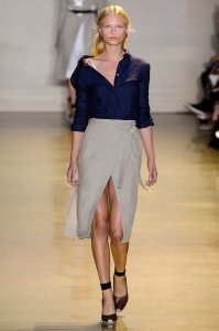Twisted wrap skirts