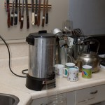 The giant coffee maker that we don't know how to use yet