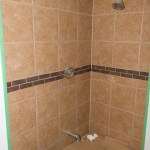 Tiled shower, now with 100% more grout!