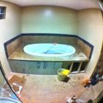 Our bathtub progress so far.