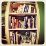 a bookcase in the office