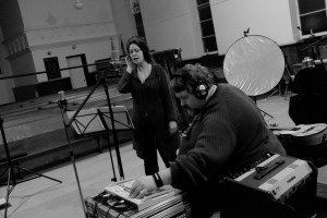 Allison Brown sings some harmony for Manitoba Hal's new record