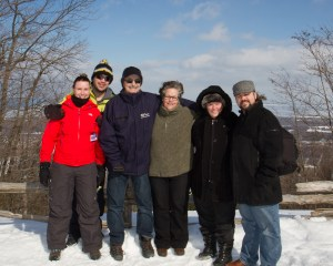 We took a trip to Blue Mountain together in February.
