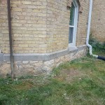 brickwork - stone foundation area