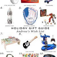 Gift Guide: Andrew's Wish List