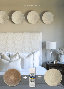 DIY: Painted African baskets