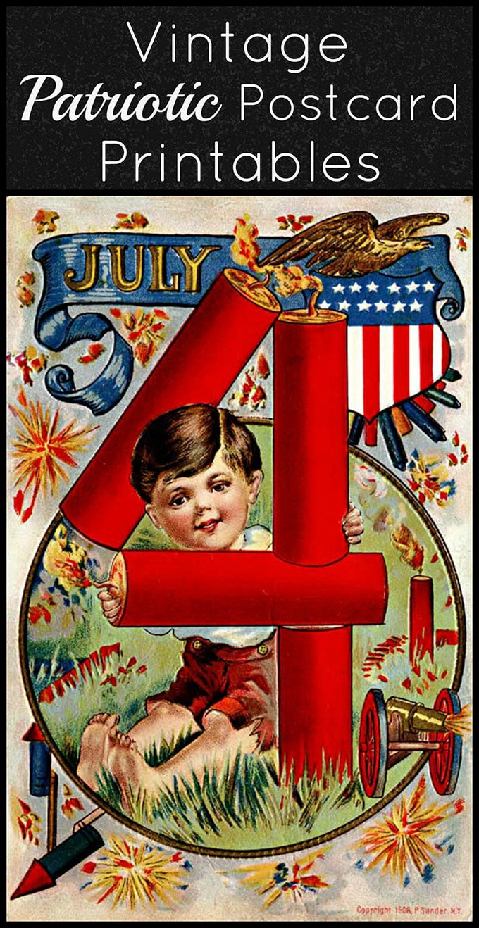 4th Of July Vintage Postcard Printables House Of Hawthornes
