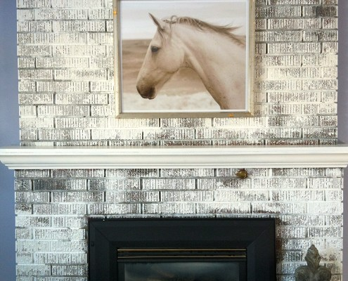 Painted Brick Fireplace - DIY project by House of J Interior Design
