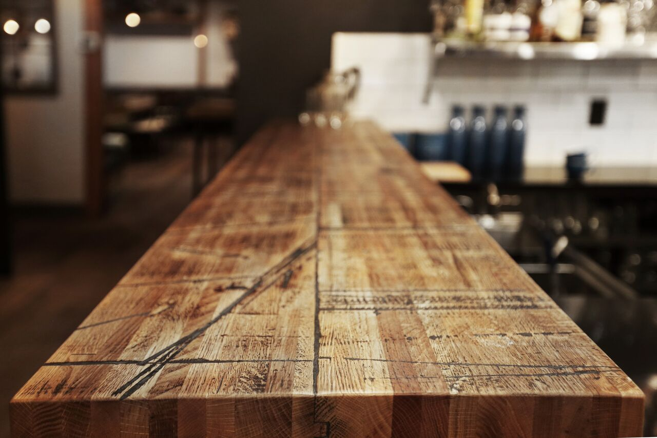 Box Car Wood Bar Top From Urban Timber Reclaimed Wood Co.