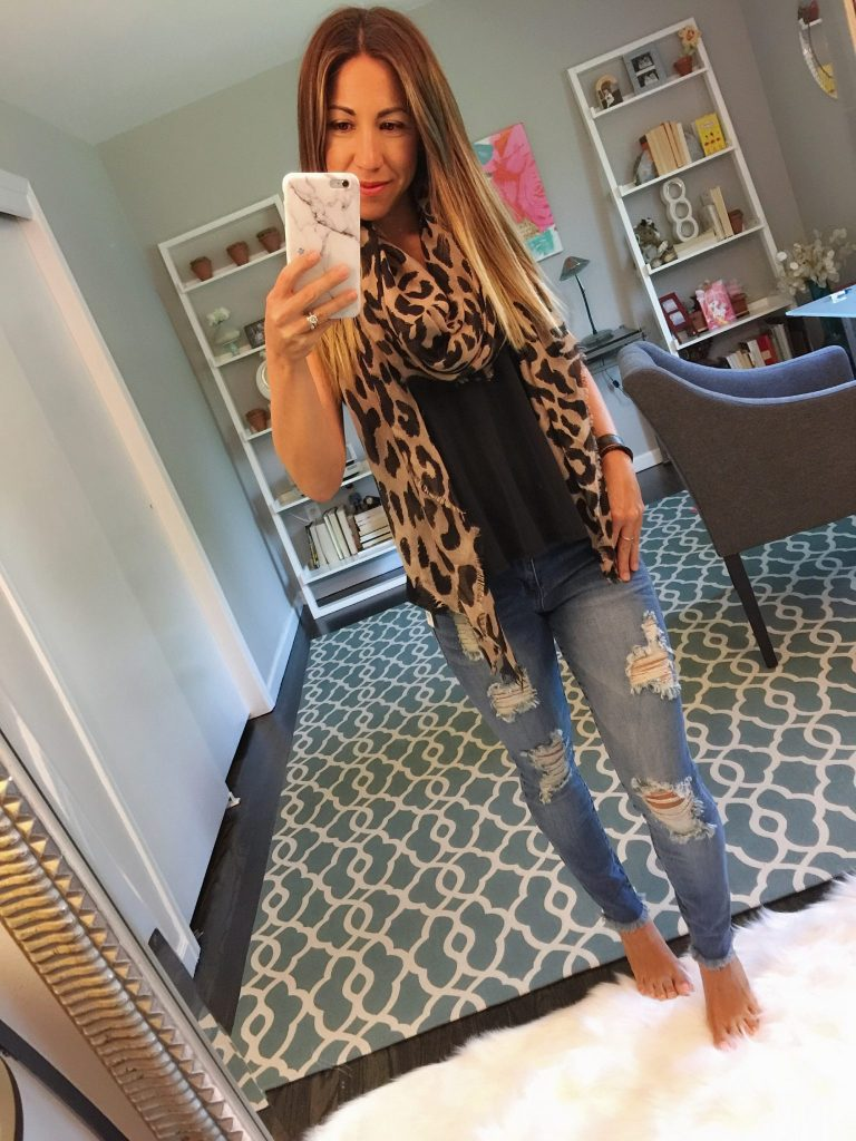 Top basics from the Nordstrom Anniversary Sale featured by top US fashion blog, House of Leo: BP Leopard Scarf