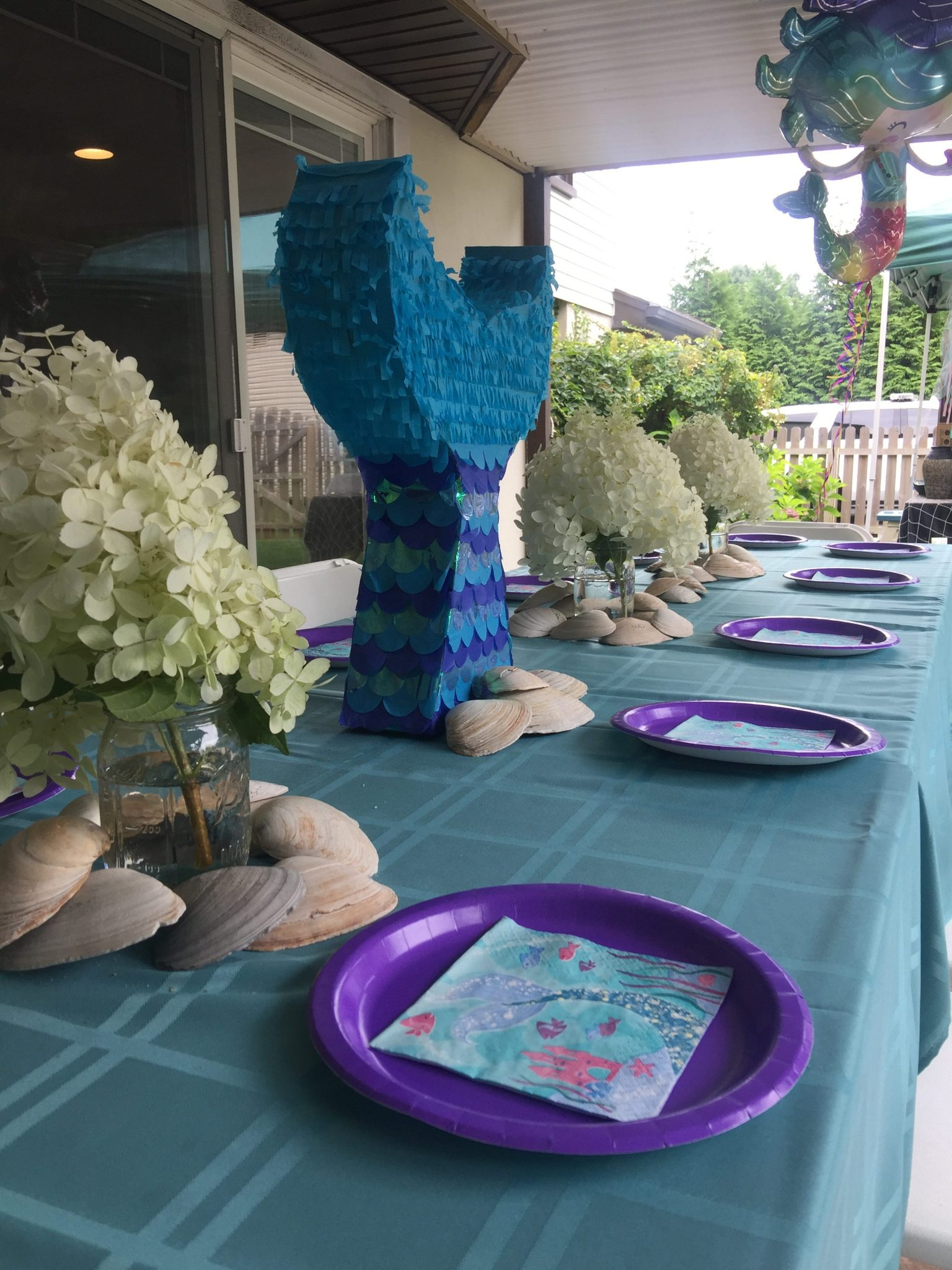mermaid party table decoration
