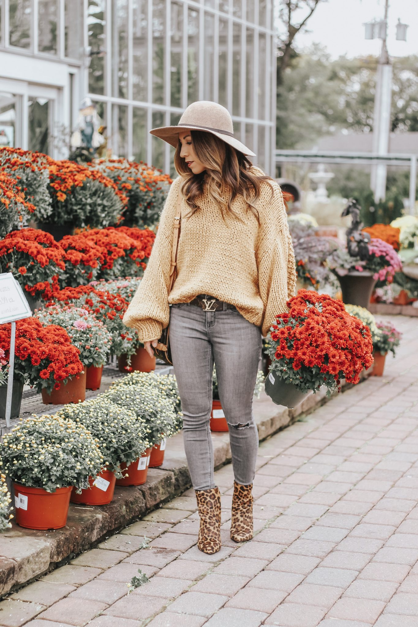 cozy chunky knit sweater