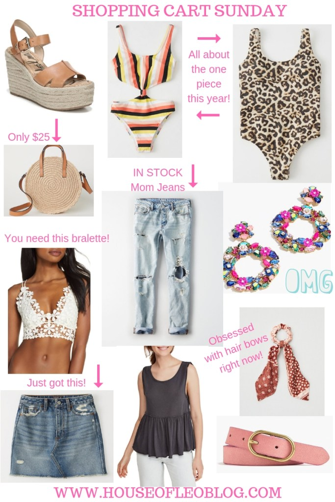 Shopping Cart Sunday by top US fashion blog, House of Leo Blog