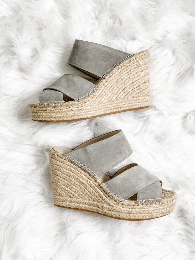Spring Shoe Reivew by top US fashion blog, House of Leo Blog: image of Kenneth Cole Olivia wedge espadrilles