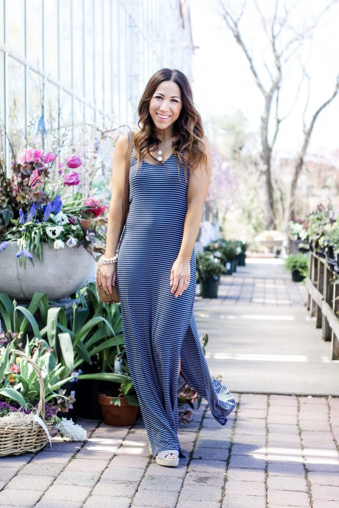 Top 10 Evereve Favorites for Spring by top US fashion blog, House of Leo Blog: image of woman wearing ZSupply tank dress