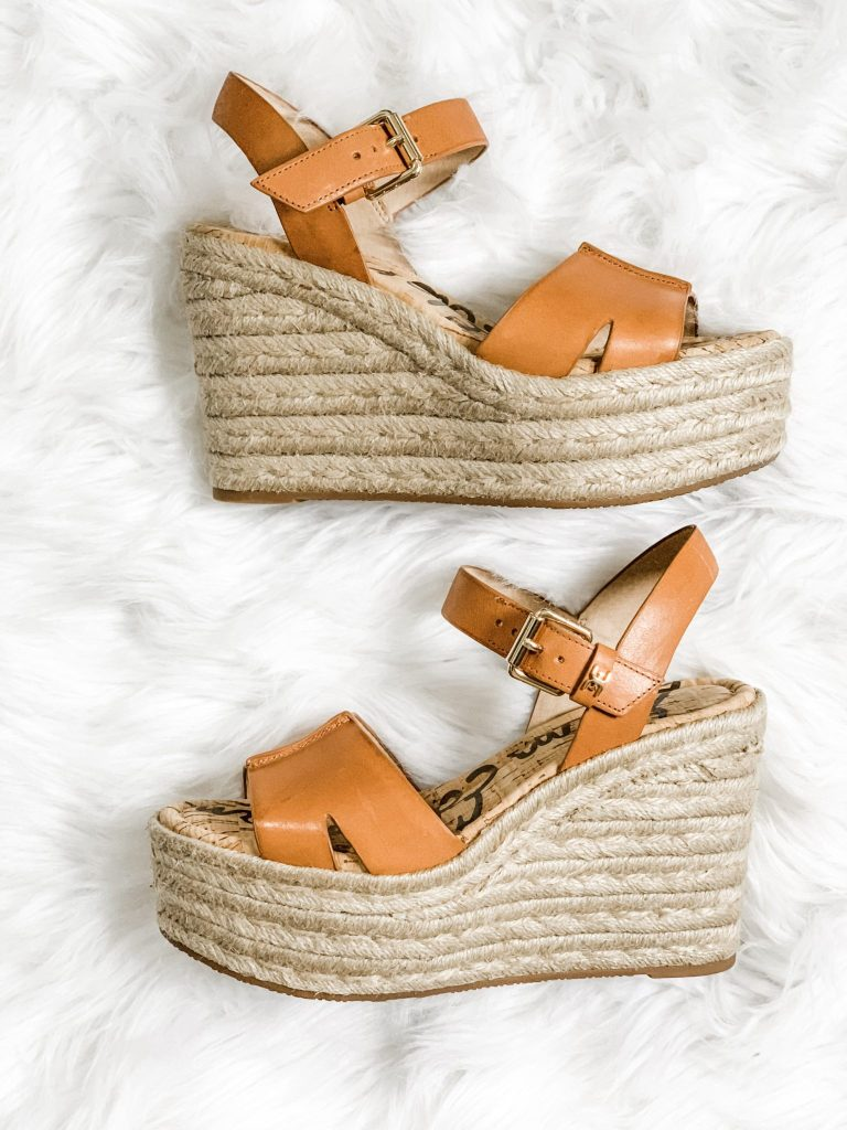 Spring Shoe Reivew by top US fashion blog, House of Leo Blog: image of Sam Edelman Maura espadrille wedge