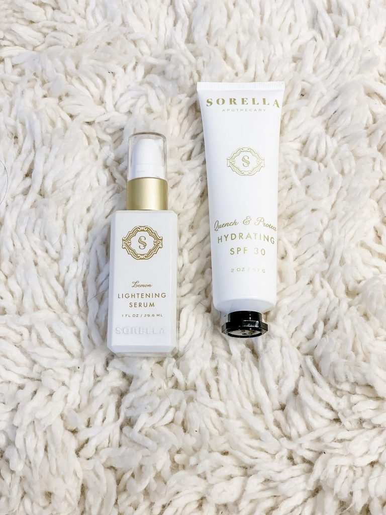 2 Must Have Skincare Products For Summer by top US beauty blog, House of Leo Blog: image of Art of Skin Care Sorella Apothecary Lemon Lightening Serum and Sorella Apothecary Quench & Protect Hydrating SPF 30