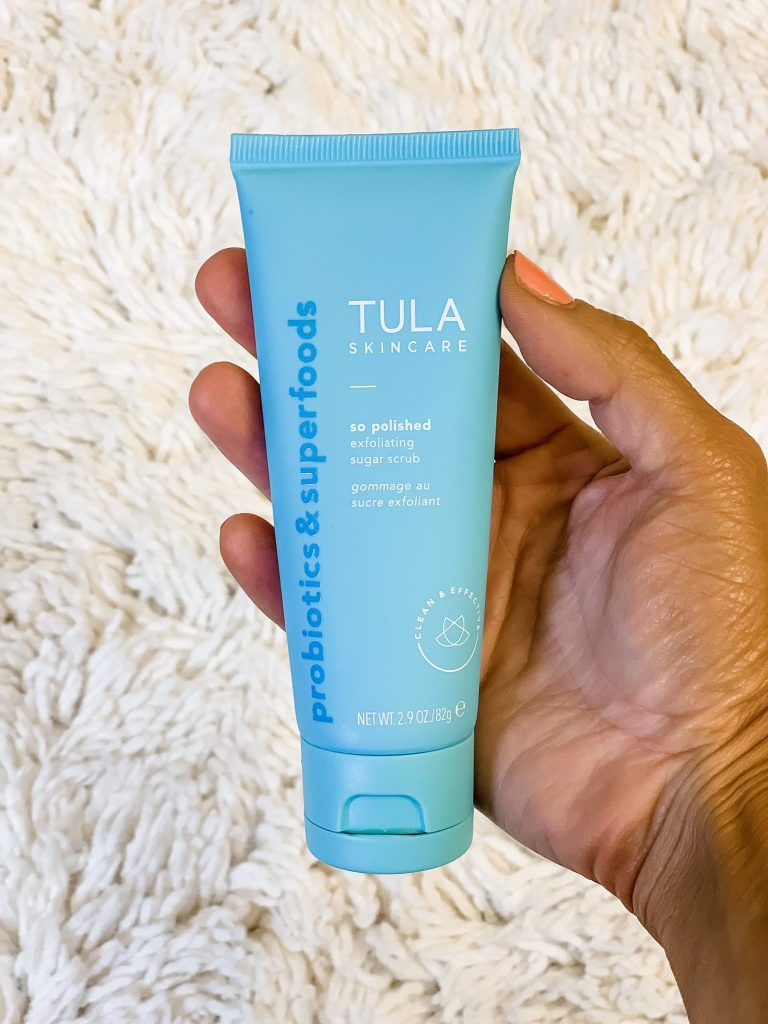 2 New Products From Tula by top US beauty blog, House of Leo Blog: image of Tula So Polished Sugar Scrub