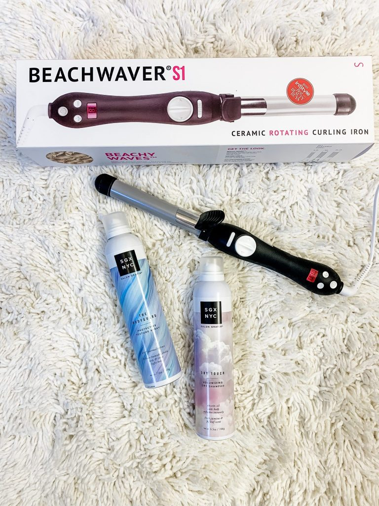 Harmon Face Values October Haul by top US beauty blogger, House of Leo Blog: image of Beachwaver and SGX hair products
