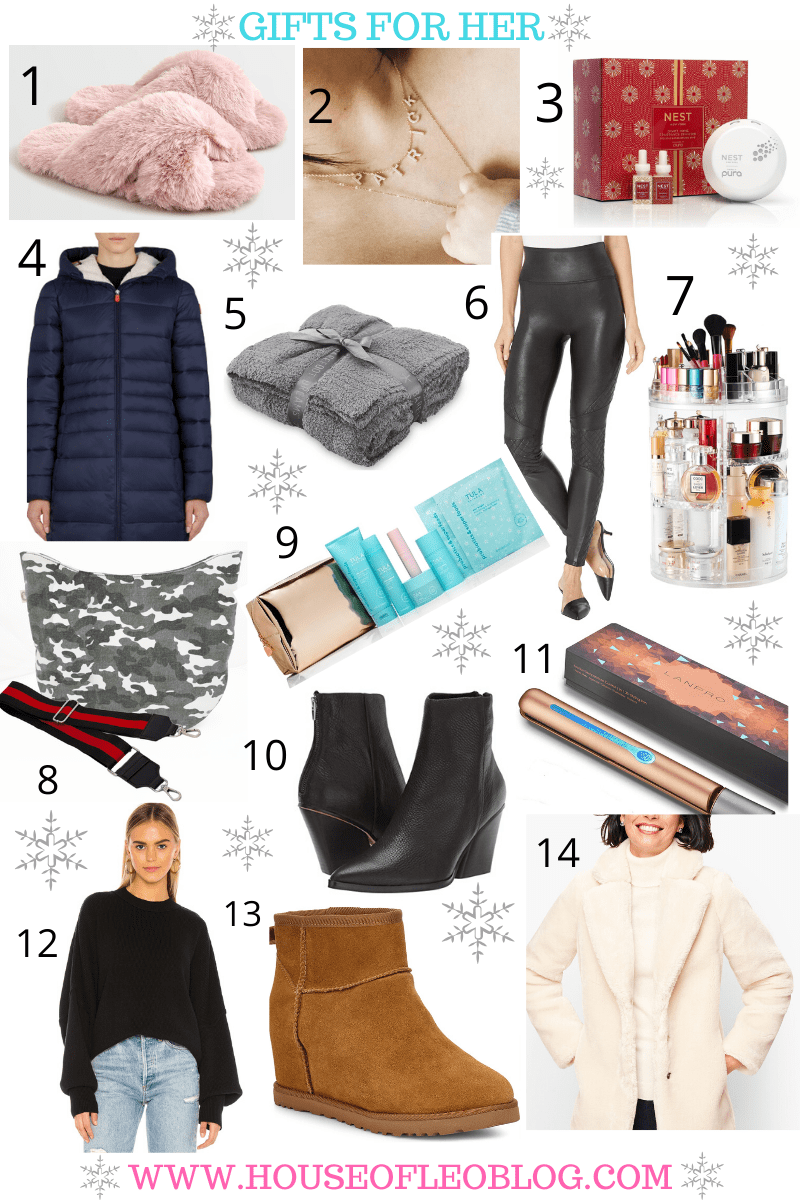 Gifts For Her by top US fashion blog, House of Leo Blog: image of top gifts for women for the holidays 2019