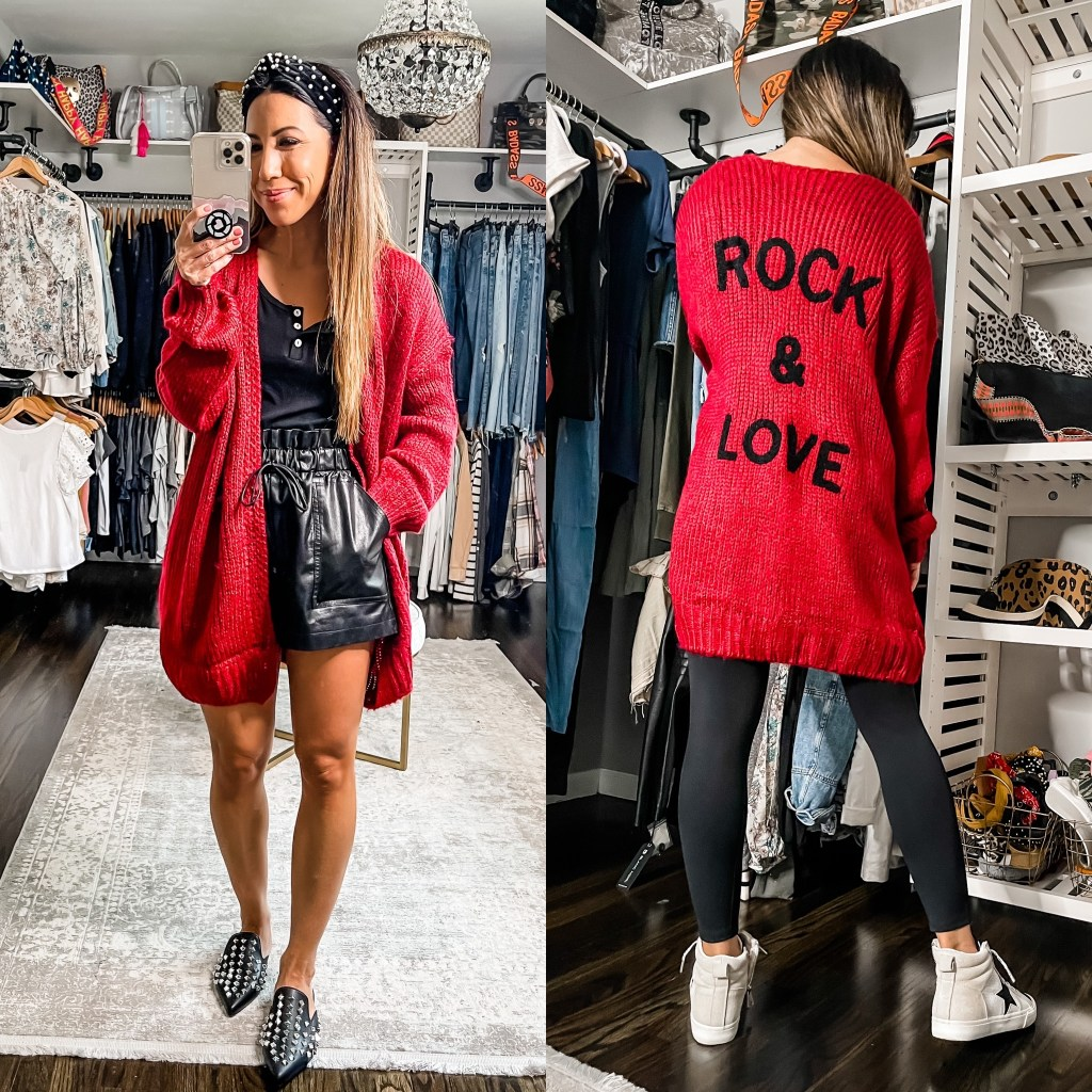 Top Sellers For August by top US fashion blog House of Leo Blog: top sellers for August, image of red cardigan