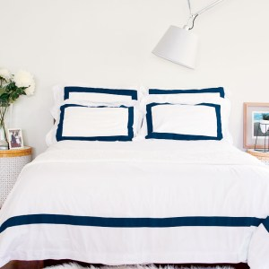 photo of house of march navy duvet cover