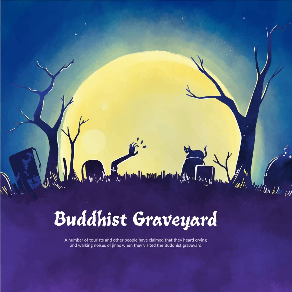 buddhist graveyard, haunted places