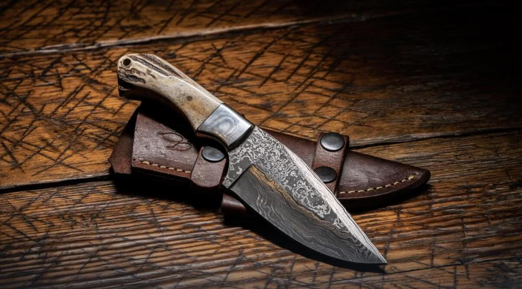 damascus oyster knife, history of knives