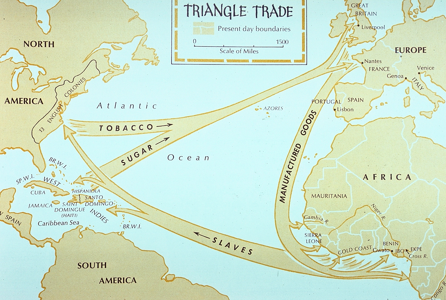 the atlantic slave trade Triangular trade or triangle trade is a historical term indicating trade among three ports or atlantic triangular slave trade part of a series on slavery.