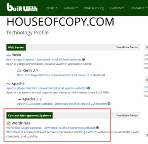 house of copy builtwith sample