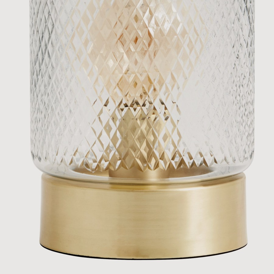 Dome Lamp with a Gold Base gallery image