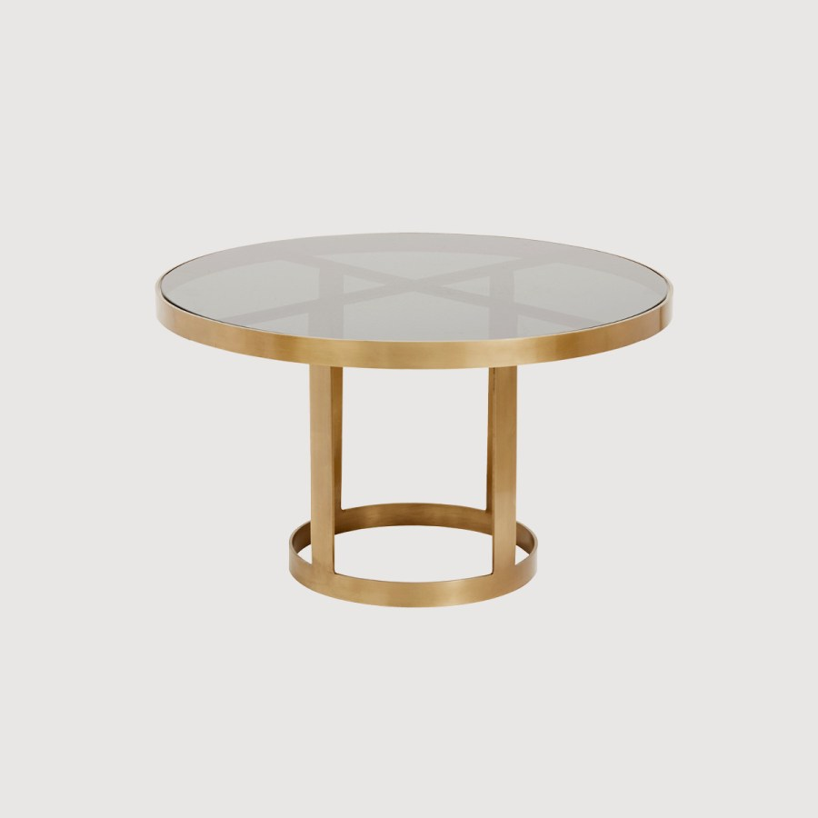Ascot Gold and Glass Coffee Table gallery image