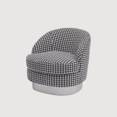Houndstooth Check Deco Armchair