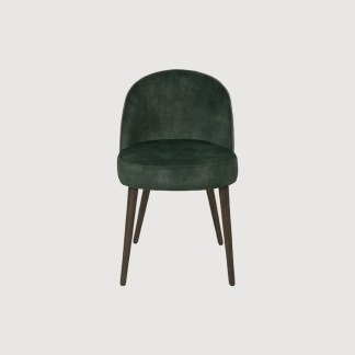 Khaki Velvet Dining Chair