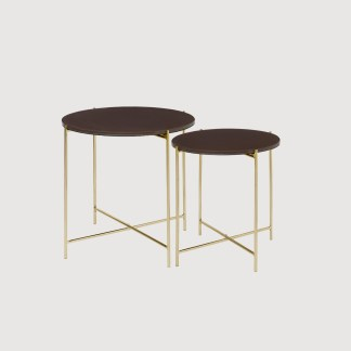 Brass Glass Side Tables