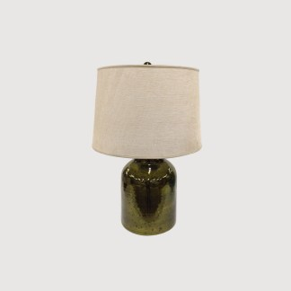 Green Lamp Linen Shade