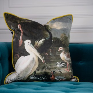 Pelican Duck Velvet Cushion