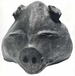 Risultati immagini per pig-masked Goddess of vegetation