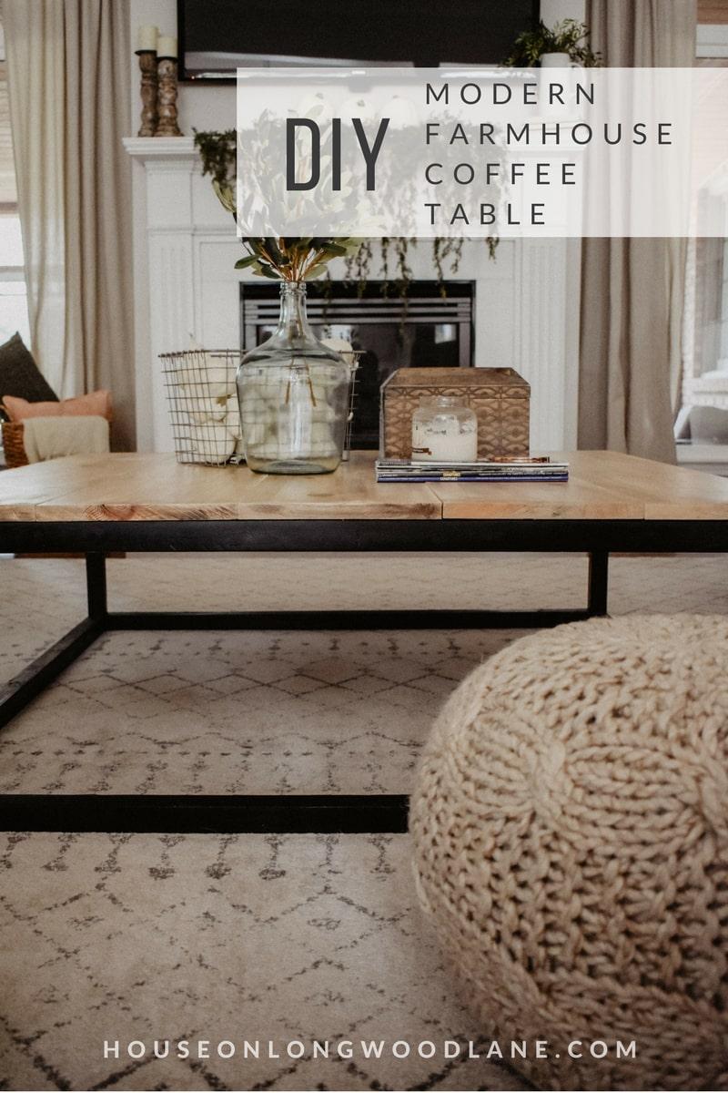 Diy Modern Farmhouse Coffee Table House On Longwood Lane
