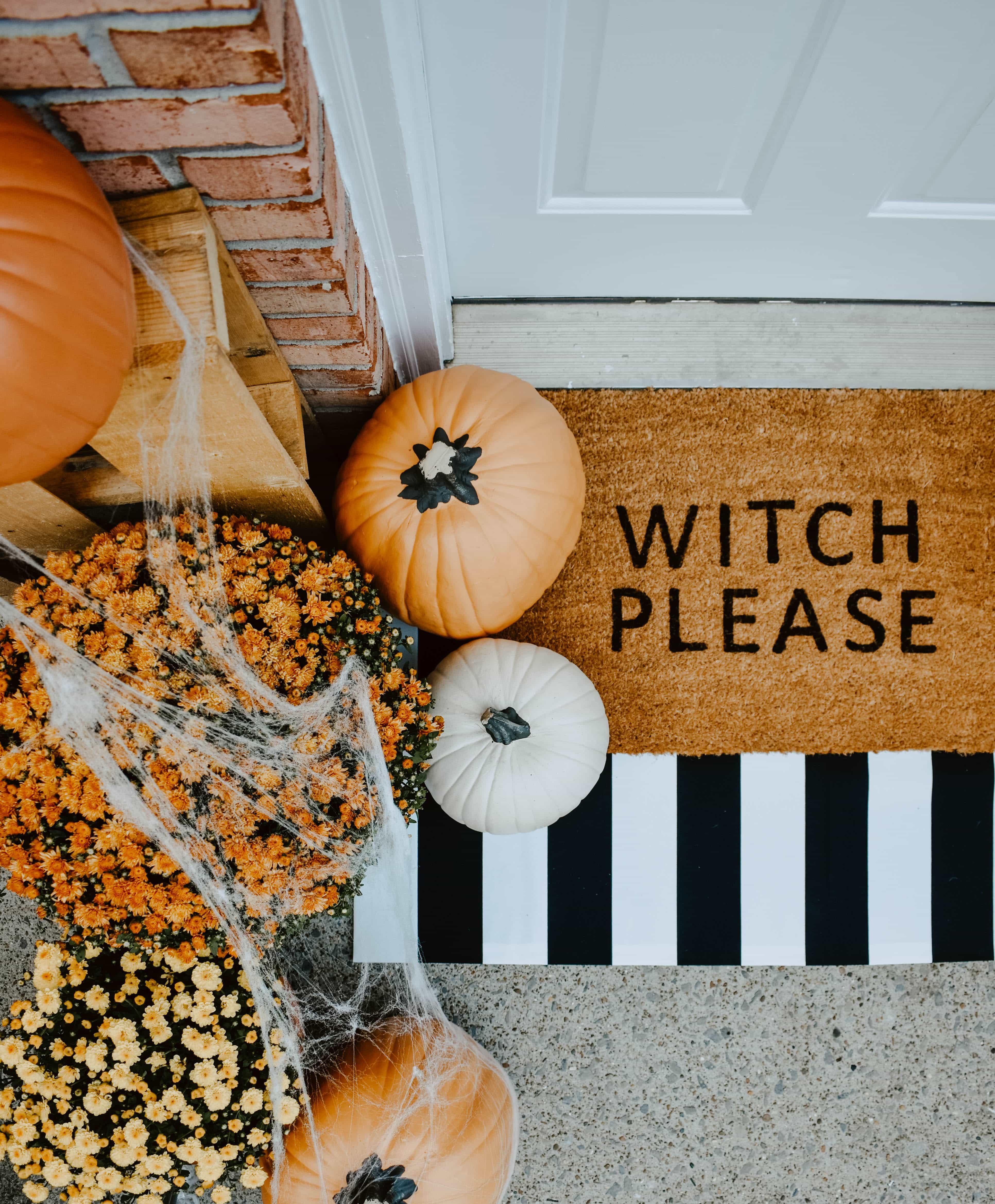 Diy Halloween Door Mat Front Porch House On Longwood Lane